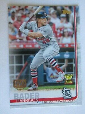 2019 Topps Series 1 Harrison Bader #97 Cup 150th Anniversary Parallel Cardinals