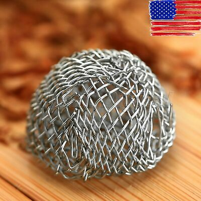 US STOCK 10Pcs Portable Tobacco Smoking Pipe Metal Screen Ball Filter Diameter