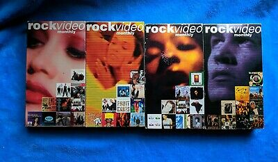 ROCK VIDEO MONTHLY 4 VHS Tape Lot Pop Releases Rock R&B Music Videos 1990's