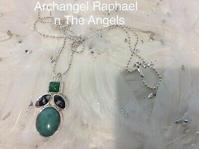 Code 632 Archangel Raphael n The Angels Charged n Infused Green Jade Necklace