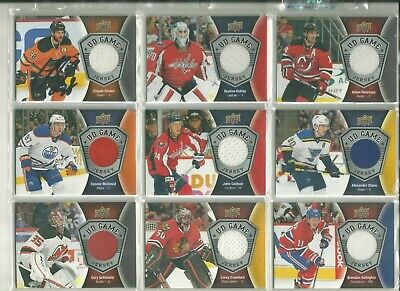 Wow!!! 2016-17 Upper Deck Series UD GAME JERSEY complete Serie One