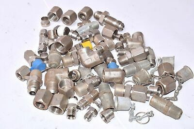 Lot of 5 Pounds of Stainless, Let-Lok, Parker, Swagelok, Threaded Fittings/Coupl