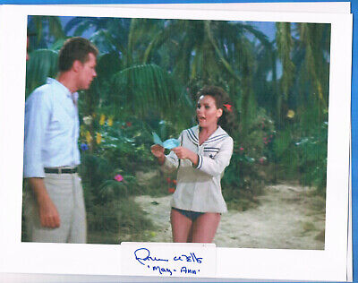 Hand Signed Autographed sticker of Dawn Wells with 8x10 Photo Gillians Island