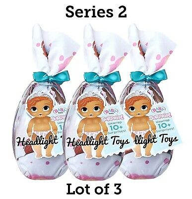 3 Series 2 BABY BORN Surprise Doll Mystery Pack Boy Girl Drinks Wets In Hand NEW