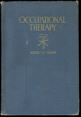 1925 Occupational Therapy for the Mentally & Nervously Ill Haas RARE WWI Antique