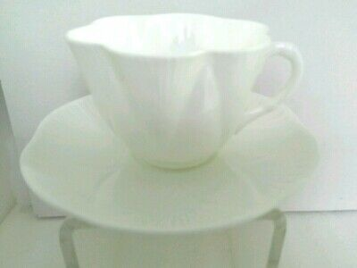 QK.  Shelley Bone China Tea Cup and Saucer Made in England.