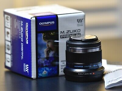 Olympus M.ZUIKO ED 45mm f/1.8 Lens for Panasonic Micro 4/3 Cameras in Box
