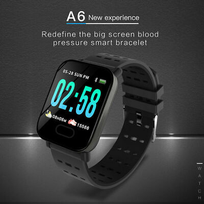 Bluetooth Smart Wrist Watch Heart Rate Blood Pressure Monitor for iOS Android CA