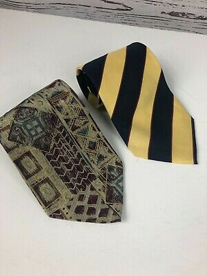 The Rack Mens Italian Silk Neck Ties Lot Of 2- Charleston & Carlo Colombo