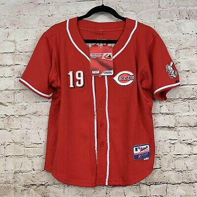 c87c3df3 Majestic Cincinnati Reds Joey Votto #19 Red Cool Base Stitched Jersey XL  Youth