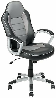 Argos Home Racing Style Gaming Chair - Black & Grey