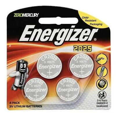 Energizer 2025/ CR2025 3V Lithium Batteries 4 Pack ~ Free Fast Postage ~