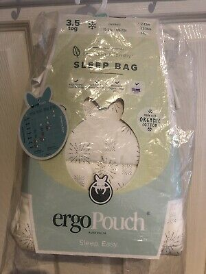 Ergopouch Sleep bag 3.5tog. 2-12months. Organic cotton New With Tags