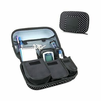 USA Gear Diabetic Supplies Travel Case Organizer for Blood Glucose Monitoring...