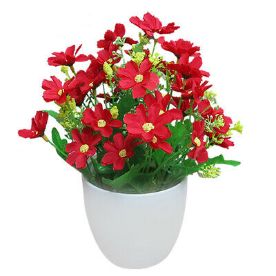Artificial Fake Planter Potted Plant Chrysanthemum In/Outdoor Home/Garden Decor