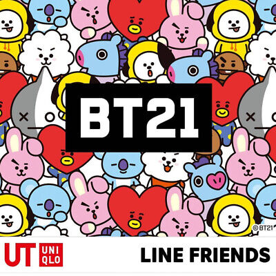 BTS BT21 Official Authentic Goods Short Sleeve Loose Fit T-Shirts by UNIQLO