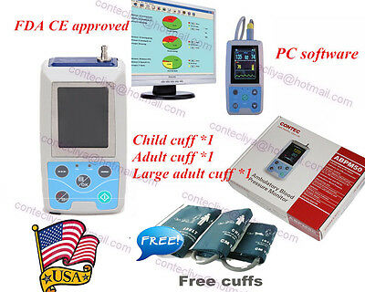 CONTEC Ambulatory Blood Pressure Monitor Software,ABPM50 24h NIBP Holter 3 Cuffs