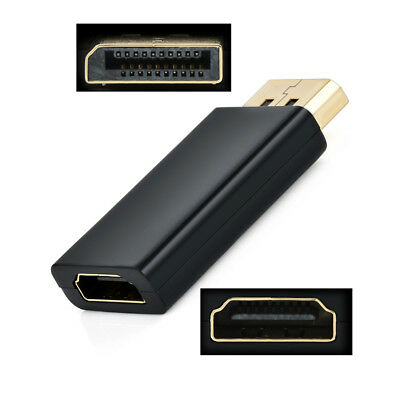 Black Display Port DP Male to HDMI Female Adapter Converter for PC Laptop HDTV