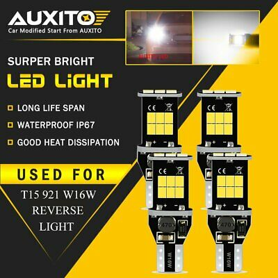 4x AUXITO T15 W16W 921 15LED Back up Reverse Side Light Bulbs 6000K ERROR FREE