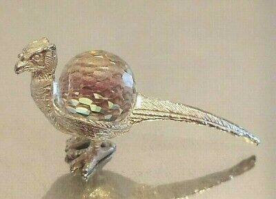very rare crystal Swarovski Crystal Bird mythical phoenix bird silver pewter