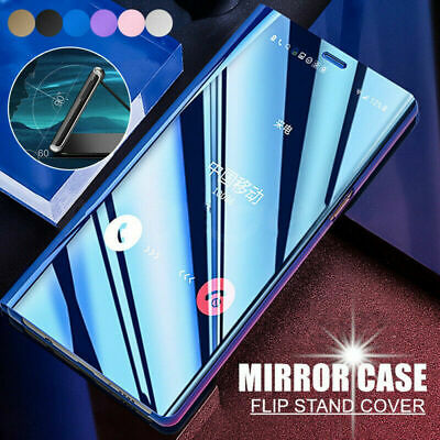 For Huawei Honor 20 Pro P Smart Y7 Y6 Pro 2019 Flip View Clear Mirror Case Cover