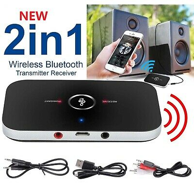 2IN1 Bluetooth HI-FI Ricevitore & Trasmettitore 3.5MM Audio TV MP3 PC Adattatore