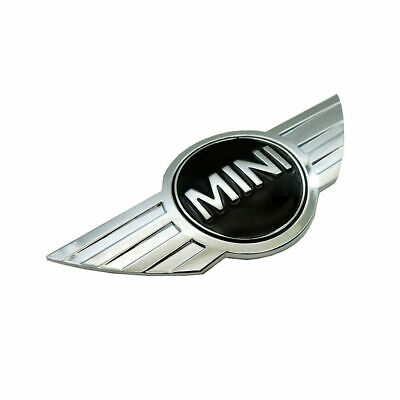 Mini One Cooper Front Emblem Badge - Black/Silver 11.5cm - UK Stock