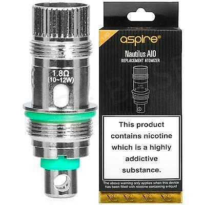 Aspire 1.8 Ohm For Nic Salt Replacement Atomizer Heads  Fits Nautilus AIO Coils