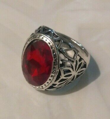 ANTIQUE HANDMADE OLD VINTAGE RARE ETHNIC SILVER Beaded Handcraft Quality RING