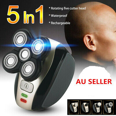 5 Head Rechargeable Bald Head Shaver Cordless Hair Beard Clipper Trimmer Razor