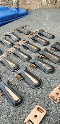 Vintage Art Deco Carpet Copper Brass Plated Metal Stair Clips x 22 Reclaimed