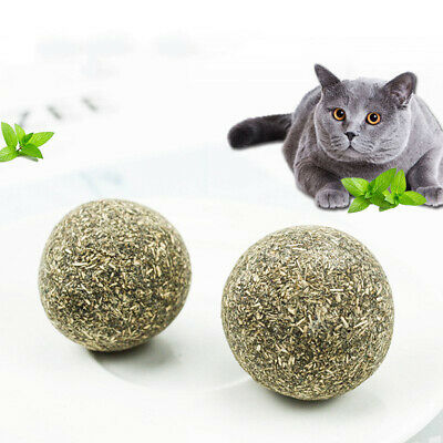 Pet Cat Natural Catnip Treat Ball Home Chasing Toys Healthy Edible Treating Au
