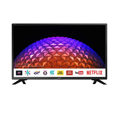 "Sharp 32"" Inch HD Ready Smart LED TV with Freeview Play HD, USB PVR and Miracast"