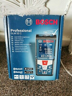 Bosch Professional GLM 50 C - 50m Laser Measure & Level - Bluetooth & App Link