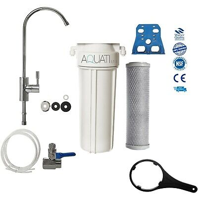 SINGLE DELUXE UNDER-SINK HOME DRINKING WATER FILTER SYSTEM & ACCESSORIES Aquati