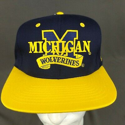 UNIVERSITY of MICHIGAN WOLVERINES DETROIT TIGERS HAT Baseball SGA Maize Blue Cap