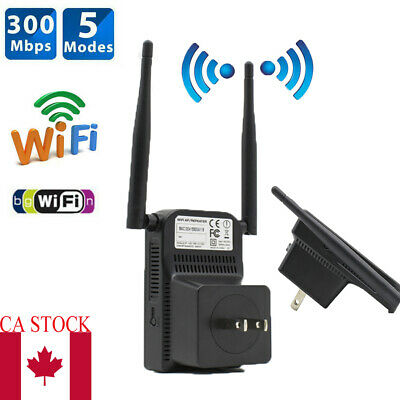 300Mbps Wifi Repeater Wireless Extender Signal Range Booster Network US Plug
