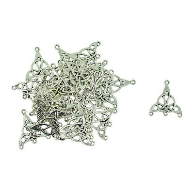30/lot Tibetan Silver Triangle Celtic Knot Earring Pendant Connector DIY