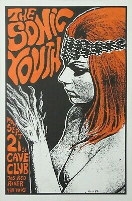 57. THE SONIC YOUTH VINTAGE BAND ALTERNATIVE ROCK CONCERT MUSIC POSTER A4 300gsm