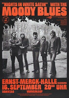 61. THE MOODY BLUES VINTAGE BAND ALTERNATIVE ROCK CONCERT MUSIC POSTER A4 300gsm