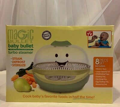 Magic Bullet Baby BPA Free Turbo Steamer Defrost Sterilize Baby Food Making New