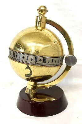 Vintage Limited Edition CHARLES FRODSHAM Of LONDON Mystery Globe Clock WORKING