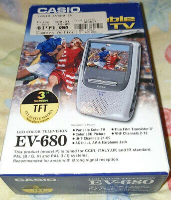 Casio Ev-680 Lcd Handheld Tv. Excellent Condition