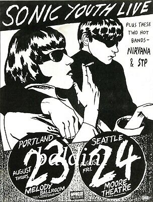 74. SONIC YOUTH VINTAGE BAND BEST ALTERNATIVE CONCERT MUSIC POSTER A3 300gsm