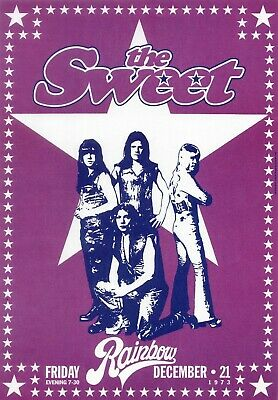 76. THE SWEET VINTAGE BAND BEST ALTERNATIVE ROCK CONCERT MUSIC POSTER A4 300gsm