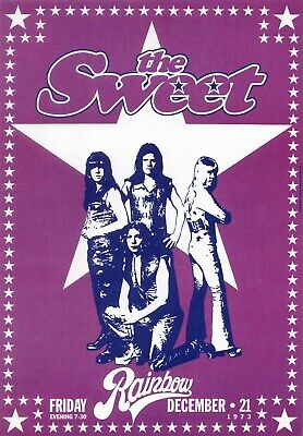 76. THE SWEET VINTAGE BAND BEST ALTERNATIVE ROCK CONCERT MUSIC POSTER A3 300gsm