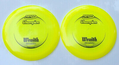INNOVA CHAMPION WRAITH [2-PACK] 174 & 174 GRAMS BRIGHT YELLOW w/BLACK HOT-STAMPS
