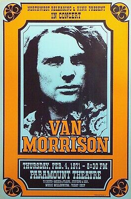 81. VAN MORRISON VINTAGE BAND ALTERNATIVE ROCK CONCERT MUSIC POSTER A4 300gsm