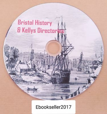 History of Bristol, genealogy in 50 + pdf ebooks and kellys directories on disc