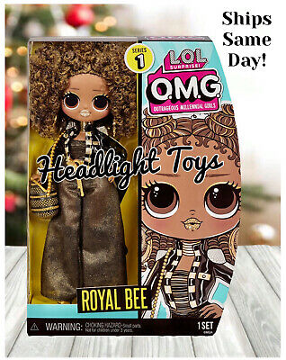 "1 LOL Surprise OMG Royal Bee 10"" Fashion Doll Queen Winter Disco Holiday In Hand"